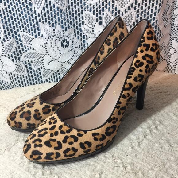 acc949c3549e Franco Sarto Shoes | Leopard Print Calf Hair Pumps | Poshmark